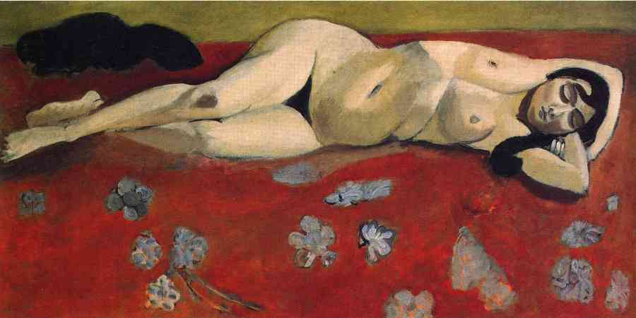 sleeping-nude-on-a-red-background-1916